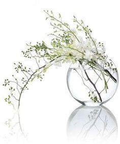 white flowers in vase - lovely simple arrangement