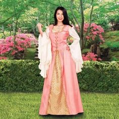 The lovely two-piece Avington Gown is made of polyester and is a dress befiting nobility. It does not just score in the beauty stakes but is an amazingly comfortable wear. This lightweight garment lac