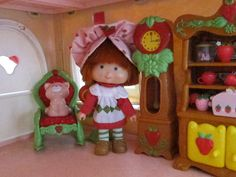 Grandfather Clock for Strawberry Shortcake Berry Happy Home Dollhouse   Brown Eyed Rose