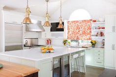 Pure White Quartz Countertops, Vintage, Kitchen, Benjamin Moore Hancock Green, Kitchen Studio KC