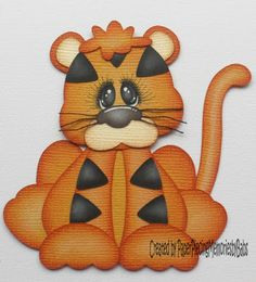 Tiny Treasure Tiger Baby Scrapbook, Scrapbook Cards, Punch Art Cards, Paper Punch, Paper Art, Paper Crafts, Paper Piecing Patterns, Tiny Treasures, Cute Friends