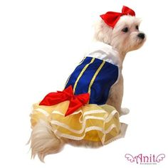 Snow Princess Dog Costume.....ON SALE NOW at http://doggyinwonderland.com/item_1194/Snow-Princess-Dog-Costume.htm