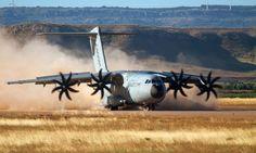 Un nuevo avión militar de Airbus se prueba en Navarra