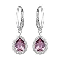 Swarovski Aneesa Antique Pink Pierced Earrings (92 CAD) ❤ liked on Polyvore featuring jewelry, earrings, accessories, special occasion jewelry, pink jewelry, pink earrings, oval earrings y oval hoop earrings