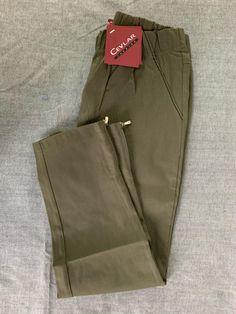 Spodnie z bengaliny Cevlar B04 kolor khaki - Big Sister
