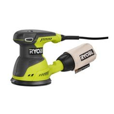 The Ryobi 5 in. Random Orbit Sander runs on a powerful 2.6 Amp motor and 12,500 orbits per minute to deliver a smooth performance in a variety of s...