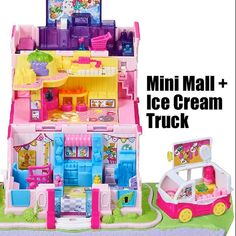 Shopkins Gifts, Shopkins Playsets, Ice Truck, Disney Princess Characters, Polly Pocket, Cute Toys, Grocery Store, Fashion Boutique, The Secret