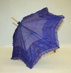 Silk Parasol - Probably American   c.1880's  -  The Metropolitan Museum Of Art
