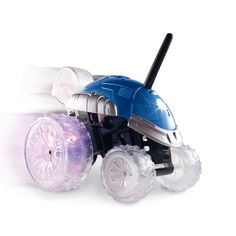 """Wheelies, flips, 360º spins-this toy car does it all! Includes remote control. Features five-wheel design and cool blinking lights. Ages 6 and up. Uses 1 9V and 4 AA batteries (not included). 7"""" H x 9"""" L x 6 1/2"""" W. Plastic, electronics. Imported."""