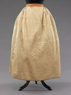 1795 Silk/Cotton Quilted Petticoat