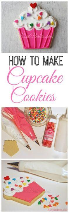How to Make Cupcake Cookies Tutorial #cake #cookies