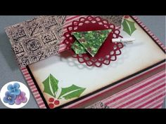 "Tarjetas Navideñas ""Double Fold"" Christmas Cards Manualidades Postales de Navidad 2015 Pintura Facil - YouTube"