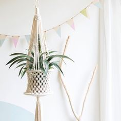 This basket style hanger is a multi-purpose piece that is perfect for housing your plants, craft supplies, or could be used as a fruit bowl in the...