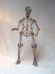 Full Human Body Tensegrity Model