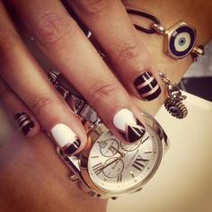 The Great Gatsby inspired design on gel polish                                                                                                                                                                                 More