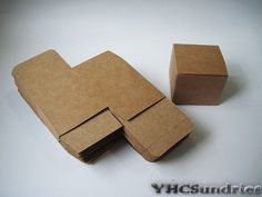 """10pcs - 350gram Mini Square Kraft paper Box - 2.2""""(L) x 2.2""""(W) x 1.8""""(H) on Etsy, $2.00"""