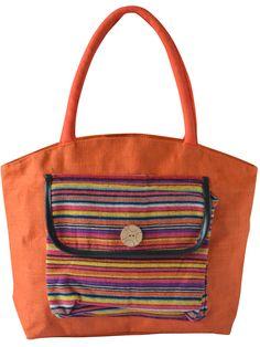 #jutehandbag, #handbag, #orange Get it @ www.earthenme.com