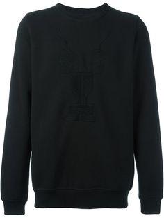 RICK OWENS DRKSHDW Embroidered Long Sleeve Sweatshirt. #rickowensdrkshdw #cloth #sweatshirt