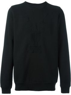 RICK OWENS DRKSHDW Embroidered Long Sleeve Sweatshirt. #rickowensdrkshdw #cloth #sweatshirt