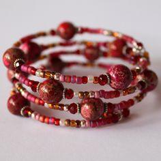 Preciouzpiecez.com.au - Cuff Bracelet B037 - fascinated by the colors.