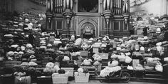 Luggage piled up around the Alexandra Palace organ, 1914 Alexandra Palace, Looking Back, London, City, City Drawing, London England, Cities