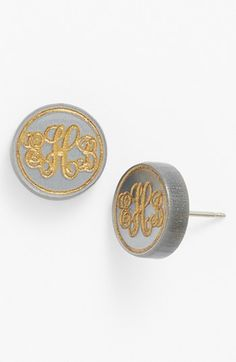 Moon and Lola 'Chelsea' Small Personalized Monogram Stud Earrings (Nordstrom Exclusive) available at #Nordstrom