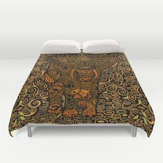 Aztec Elephant with floral Pattern Duvet Cover $99.00  #Aztec #Aztecpattern #elephant #thailandelephant #fullcolor #abstract #art #painting #digitalpainting #floral #animals #Badroom #Duvet #Duvetcover
