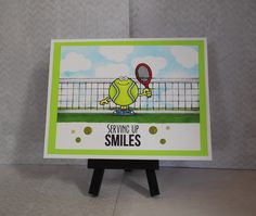 Card using Your Next Stamp set Sports fanatic two. Cute little image