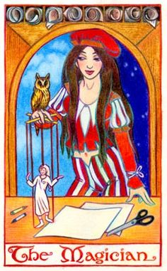 The Magician, a Tarot Card by Thalia Took--Tarot Air element Card ...