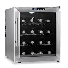 Wine Enthusiast Silent 16-Bottle Wine Refrigerator with Stainless Steel Trim Door - Bed Bath & Beyond