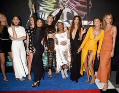 Pin for Later: The 31 VMAs Snaps That You Probably Didn't See Martha Hunt, Hailee Steinfeld, Cara Delevingne, Selena Gomez, Taylor Swift, Serayah, Lily Aldridge, Gigi Hadid, and Karlie Kloss