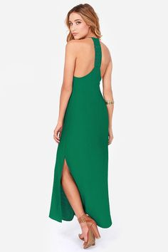 Lucy Love Sunset Emerald Green Lace Maxi Dress at LuLus.com!