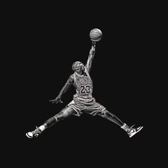 "Michael Jordan's iconic ""Jumpman"" logo in real life."