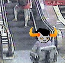 LOL homestuck Gamzee Makara gamzee xd tavros wheelchair tavros nitram escalator Homestuck gifs