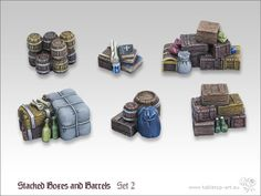 TTA600017 - Stacked Boxes and Barrels Set 2