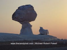 Traveling to the surreal, wind-sculptured rock formations of Egypt's White Desert is best done from Bawiti (Bahariya oasis), rather than in Cairo. Wind Sculptures, Garden Sculpture, Michael Roberts, Rock Formations, Latin America, Cairo, Amazing Places, Surrealism, Egypt