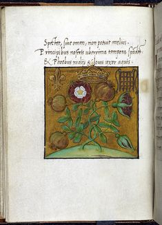 Sir Thomas Moore composed a 'Coronation Suite' of Latin poems for presentation to the new King Henry VIII in the form of this manuscript. The front cover incorporates the Tudor rose, the pomegranate of Granda, the fleur-de-lis and the Beaufort portcullis badge. The poems were published later as an addendum to the 1518 Froben edition of (Moore's) Utopia.