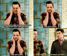 I swear Nick Miller is me. New Girl Funny, New Girl Memes, New Girl Quotes, New Girl Tv Show, Jake Johnson, Jessica Day, Chef D Oeuvre, Tv Show Quotes, Movie T Shirts