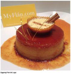 """Eggnog Flan www.MyFlan.com by Felix Lugo  """"Flan Critic & Innovator"""""""