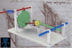 Leonardo Da Vinci's Spatial Slider-Crank Mechanism - SketchUp,SOLIDWORKS,Parasolid,Autodesk 3ds Max,OBJ,STL,STEP / IGES - 3D CAD model - GrabCAD