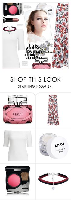 """Untitled #1612"" by mycherryblossom ❤ liked on Polyvore featuring Gucci, NYX, Chanel and Giorgio Armani"
