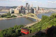 "The incline in Pittsburgh takes you from Station Square to Mount Washington or ""Warshington"" depending on who you ask!"