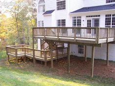 multi level decks | Multi Level Deck Picture Gallery