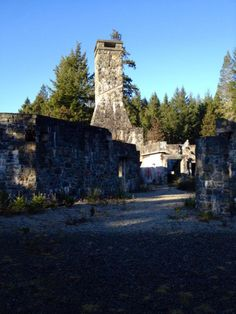 "Ruins from a 1980s never-completed resort near the Sooke potholes. A tip for getting in: ""follow the fence down the left side from the parking lot and you're in. No fence on the backside. Watch your footing going around."" Location: https://www.google.ca/maps/place/48%C2%B026'14.3%22N+123%C2%B042'58.0%22W/@48.437317,-123.7161,258m/data=!3m2!1e3!4b1!4m2!3m1!1s0x0:0x0"