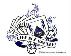Flaming cards and life is a gambling banner tattoo design Linkin Park, Surabaya, Tattoo Designs, Tattoo Ideas, Overlays, Las Vegas, Gambling Machines, Card Tattoo, Party Decoration