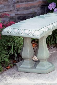 Items available at BF landscape 856-740-1445 www.bflandscape.com ITEM #4185 Concrete Bench, Garden Furniture, Landscape, Outdoor Garden Furniture, Yard Furniture, Scenery, Landscape Paintings, Corner Landscaping, Outdoor Furniture