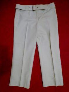 sz 8 LOFT MARISA Fit Green Crop pant Ann Taylor Cotton 32/26 *Back leg FLAW New  #AnnTaylorLOFT #CaprisCropped