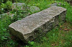 long block stone bench