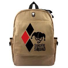 e0ec9149c772 Suicide Squad Harley Quinn Joker Backpacks Shoulder Bag Children Rucksack  Casual School Bag Bookbag For Teenagers