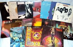 Vintage 17 LP LOT Classic Hard Rock Heavy Metal Glam Hair Band Records 1976-1984